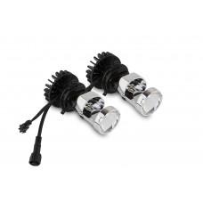 Светодиодные линзы Infolight Mini LED H4 5000K Комплект