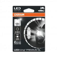Светодиодная лампа OSRAM C5W 36mm 12V 1W 6000K 6498CW-BLI