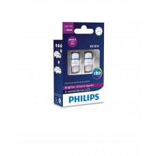 Светодиодная лампа PHILIPS LED W5W T10 12V 1W 8000K X-Treme Vision 12799LED