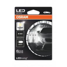 Светодиодная лампа OSRAM W5W T10 12V W2.1X9.5D 1W 4000K 2850WW-BLI2