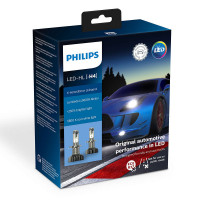 Светодиодная лампа PHILIPS LED H4 X-treme Ultinon Gen2 +250% 11342XUWX2