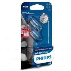 Галогенная лампа PHILIPS W5W White Vision 12961NBVB2