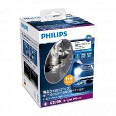 Светодиодная лампа PHILIPS LED H4 more vision +150% 12953BWX2
