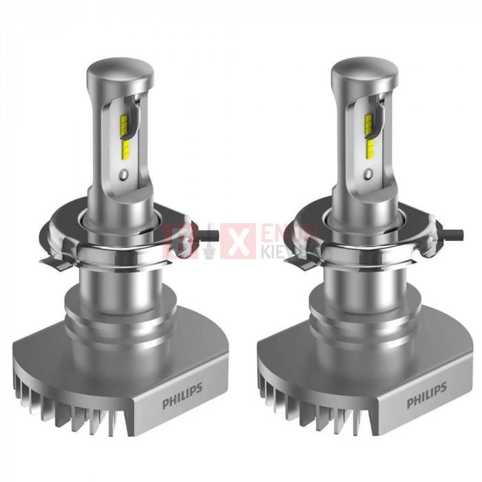 Светодиодная лампа PHILIPS LED H4 Ultion +160% 11342ULWX2