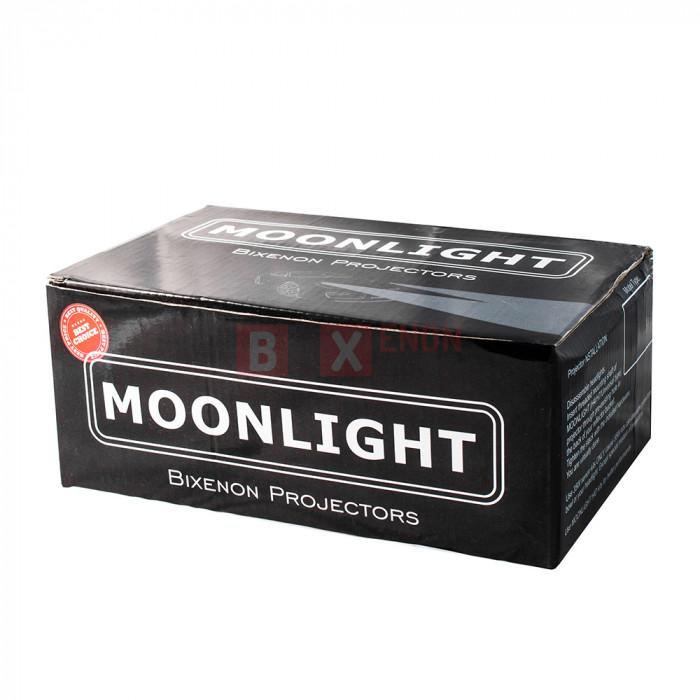 Биксеноновые Линзы Moonlight Silver Series H1 3.0 Дюйма Metal