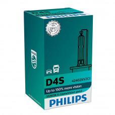 Ксеноновая лампа PHILIPS D4S X-treme Vision gen2 +150% 42402XV2C1