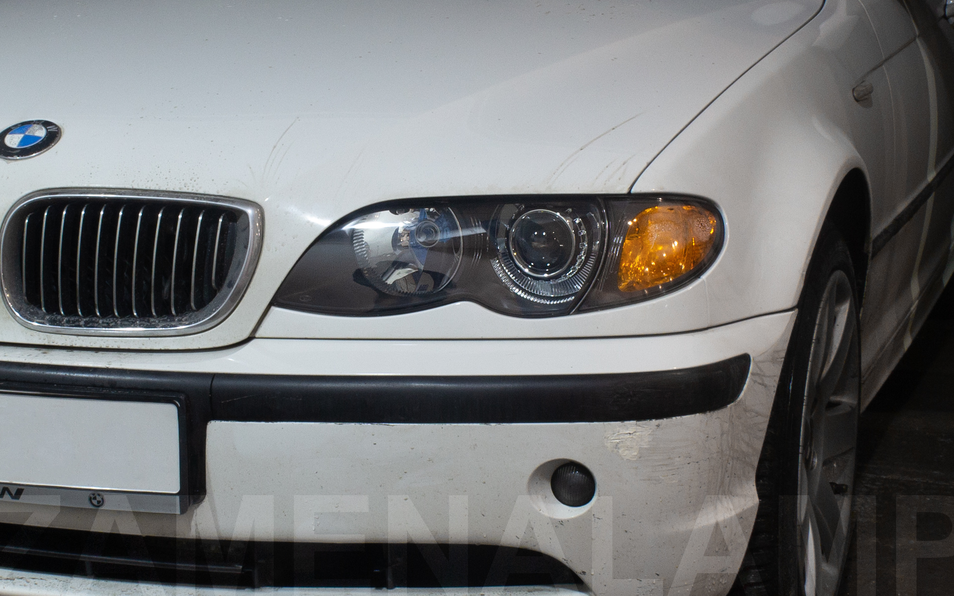 BMW E46 установка биксеноновых линз Q5