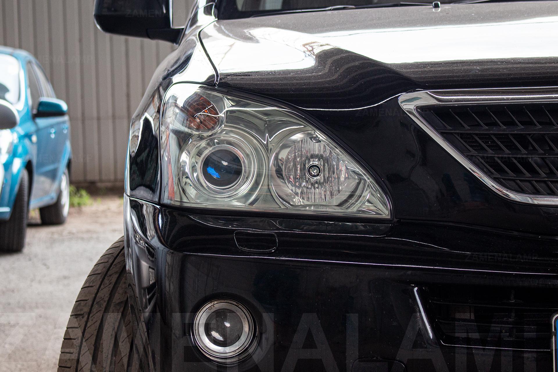 LEXUS RX 350 замена штатных линз на Hella 5 Blue